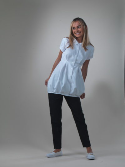 Bonbon - White Spa Uniform Top