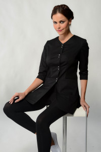 Aline - Black Spa Uniform Top