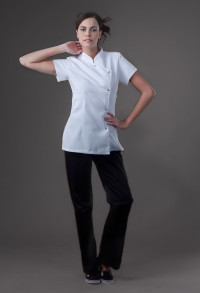 Asia - White Spa Uniform Top