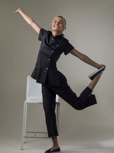 Asia - Black Spa Uniform Top
