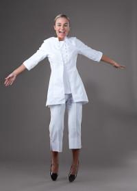 Chloe - White Spa Uniform Top