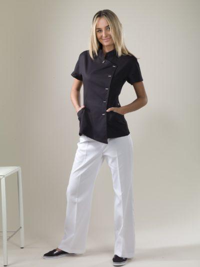 Java - Schwarze Spa-Uniform-Jacke