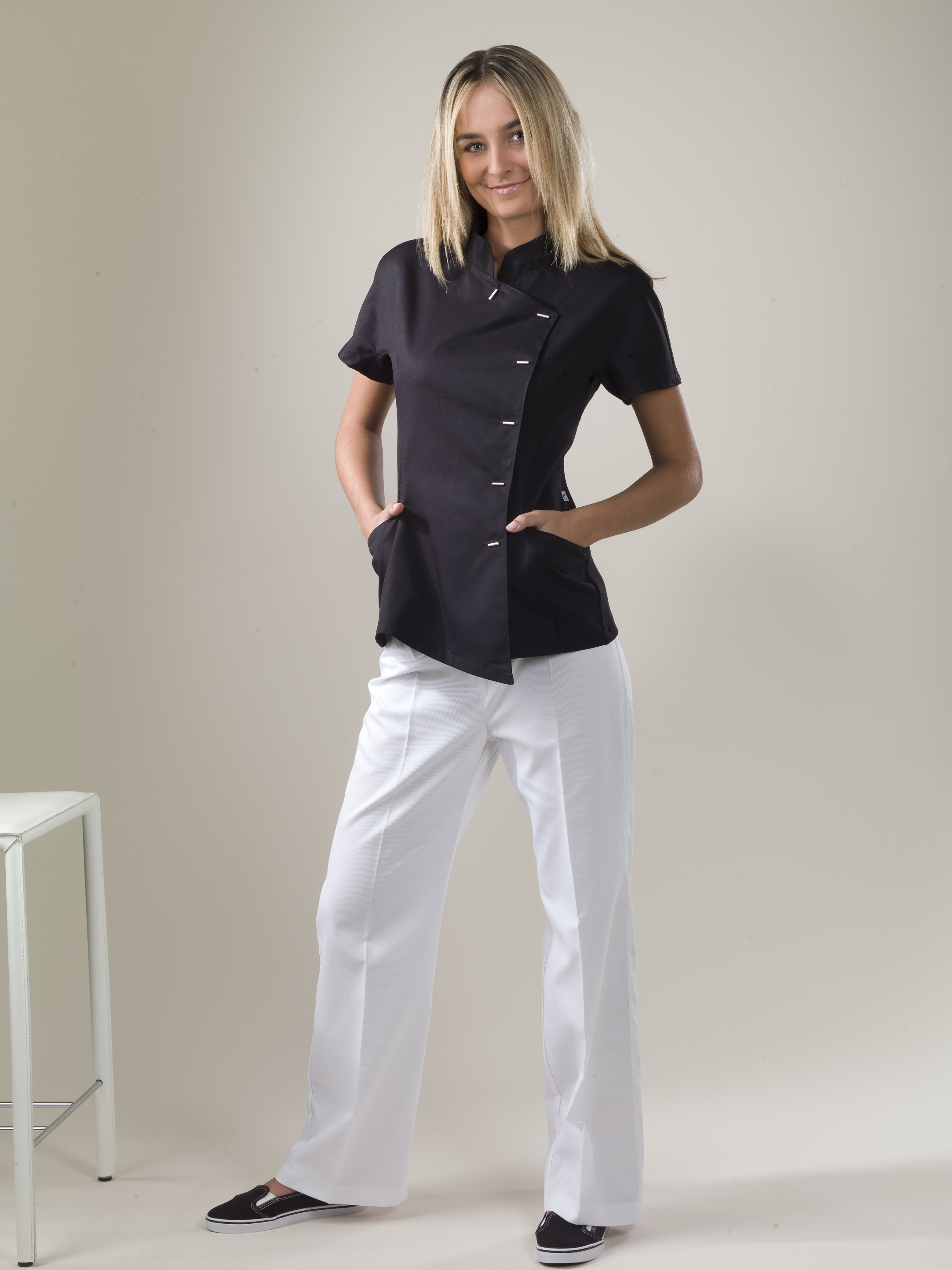 Java top monique mathieu paris for Spa uniform tops