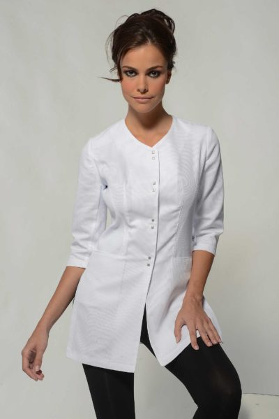 Aline White Spa Uniform Top