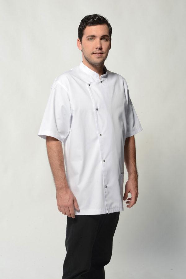 Ame - White Men's Spa Uniform Top