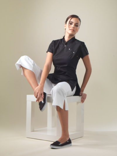 China - Black Spa Uniform Top