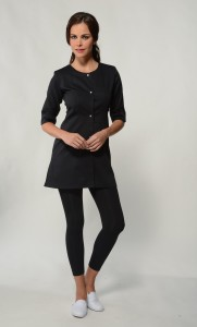 Jolie - Black Spa Uniform Top