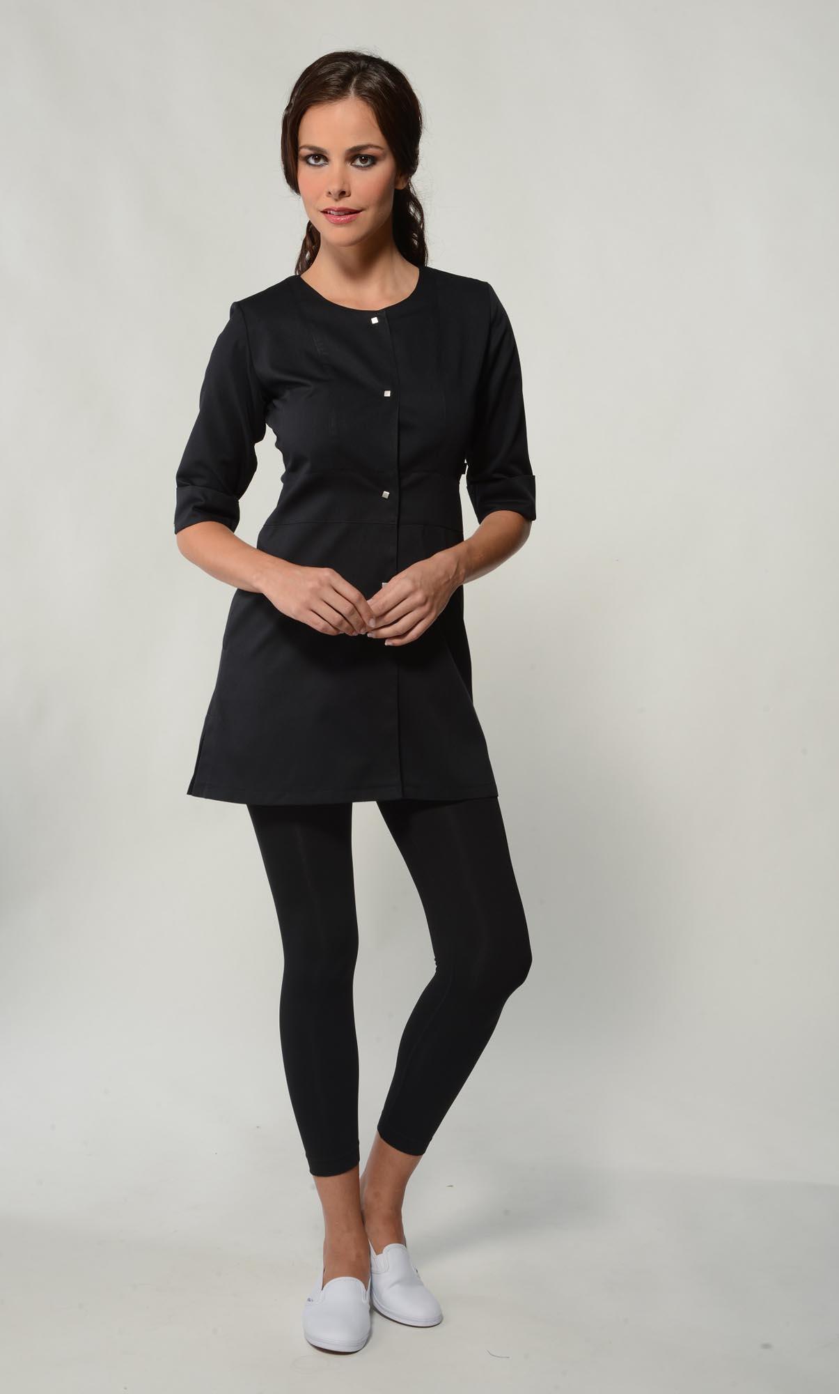 Jolie top monique mathieu paris for Spa uniform grey