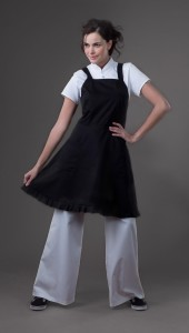 Kim - Black Spa Uniform Apron