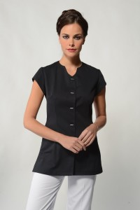 Lina - Black Spa Uniform Top
