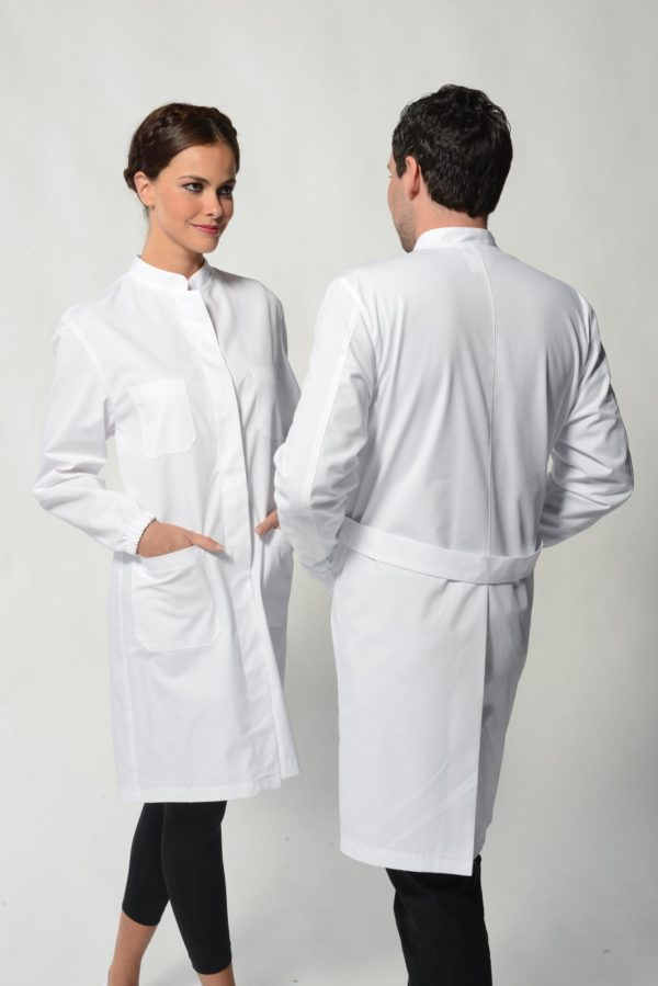 Monza lab coat monique mathieu paris for Spa uniform colors