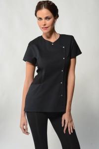 Sena – Black Spa Uniform Top