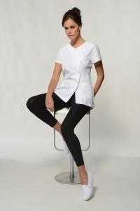 Sena – White Spa Uniform Top