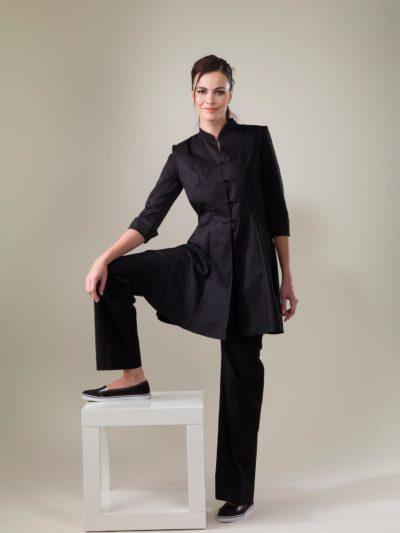 Tibet – Black Spa Uniform Top