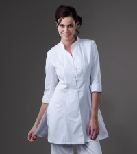Tibet – White Spa Uniform Top