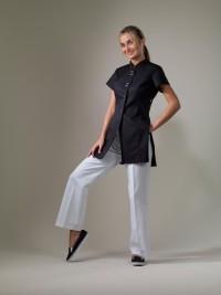 Zoe – Black Spa Uniform Top