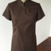 China - Chaqueta de uniforme de spa marrón