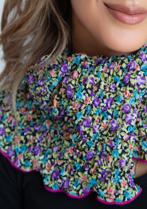 Scarf pleat purple and pink